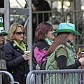 A View Of Some People Enjoying The 2009 New York St. Patrick Day by James Connor