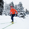 A Young Woman Cross-country Skiing by Scott Dickerson