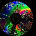 Abstract Rainbow Droplets On Cd by Radu Nedelcu