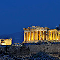 Acropolis Of Athens During Dusk Time by George Atsametakis
