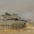 An Israel Defense Force Magach 7 Main by Ofer Zidon