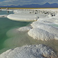 Atacama Salt Lake Near San Pedro De by Christian Heeb
