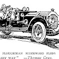 Automobile Cartoon, 1914 by Granger