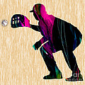 Baseball Catcher by Marvin Blaine