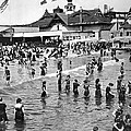 Bathers At Coney Island by Underwood Archives