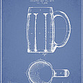 Beer Mug Patent From 1876 - Light Blue by Aged Pixel