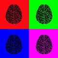 4 Brain Pop Art Panel by Daniel Hagerman