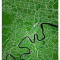Brisbane Street Map - Brisbane Australia Road Map Art On Colored by Jurq Studio