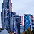 Charlotte City Skyline At Night by Alex Grichenko