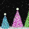 4 Christmas Trees by Debra Congi