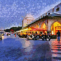 City Of Rhodes During Dusk Time by George Atsametakis