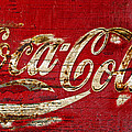 Coca Cola Sign Cracked Paint by John Stephens