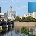 Downtown Indianpolis Indiana Skyline by Bill Cobb