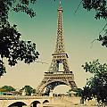 Eiffel Tower And Bridge On Seine River In Paris by Michal Bednarek