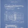 Fender Floating Tremolo Patent Drawing From 1961 - Light Blue by Aged Pixel