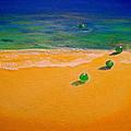 4 Glass Balls by Frank B Shaner