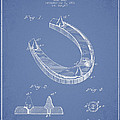 Horseshoe Patent Drawing From 1881 by Aged Pixel