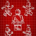 Lego Figure Patent 1979 - Red by Stephen Younts