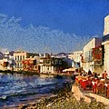 Little Venice In Mykonos Island by George Atsametakis