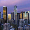 Los Angeles Skyline Sunset by Mountain Dreams