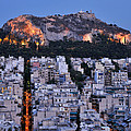 Lycabettus Hill During Dusk Time by George Atsametakis