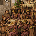 Medieval Accountants, 1466 by Science Source