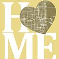 Miami Street Map Home Heart - Miami Florida Road Map In A Heart by Jurq Studio