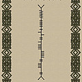 O'connor Written In Ogham by Ireland Calling