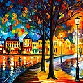 Park By The River by Leonid Afremov