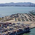 Port Of Oakland, Oakland by Dave Cleaveland