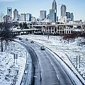 Rare Winter Scenery Around Charlotte North Carolina by Alex Grichenko
