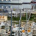 Reflections In Mikrolimano Port by George Atsametakis