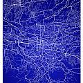 San Jose Street Map - San Jose Costa Rica Road Map Art On Colore by Jurq Studio