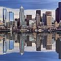 Seattle Skyline Waterfront by Mike Penney