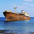 Shipwreck On Lanzarote by Karol Kozlowski