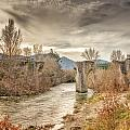 The Ancient Bridge At Ponte Novu In Corsica by Jon Ingall