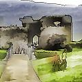 Tourists And The Path At Ruins Of The Urquhart Castle by Ashish Agarwal