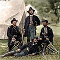 4 Union Officers Of The 4th Pennsylvania Cavalry by Celestial Images