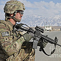 U.s. Army Specialist Provides Security by Stocktrek Images
