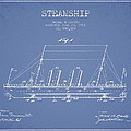 Vintage Steamship Patent From 1911 by Aged Pixel