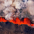 Volcano Eruption At The Holuhraun by Panoramic Images