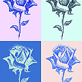 4 Warhol Roses By Punt by Gordon Punt
