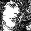 Woman Sketch by Rafael Salazar