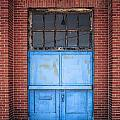 401 Blue Factory Door by Greg Kluempers
