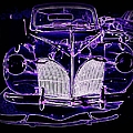 41 Lincoln In Neon by Bobbee Rickard