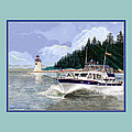 43 Foot Tollycraft Southbound In Clovos Passage by Jack Pumphrey