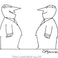 That's A Good Look by Charles Barsotti