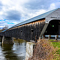 460 Foot Long New Hampshire Covered Bridge by Sherman Perry