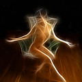 4698 Energy Work Abstract Nude Seated Figure   by Chris Maher