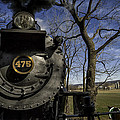 #475 Steam Engine On The Strasburg Rr 04 by Mark Serfass